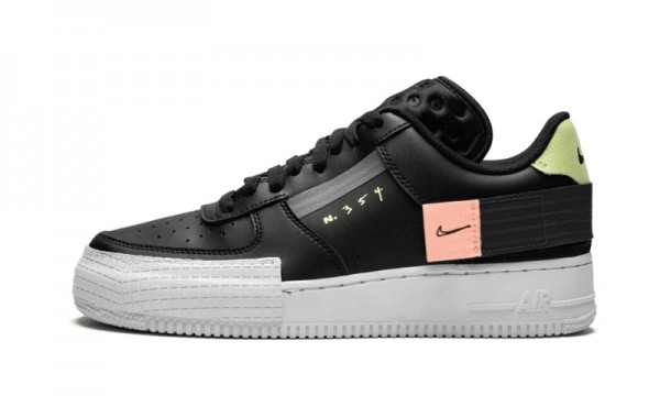 Nike Air Force 1 Low Drop Type Nere/Anthracite-Zinnia CI0054-001