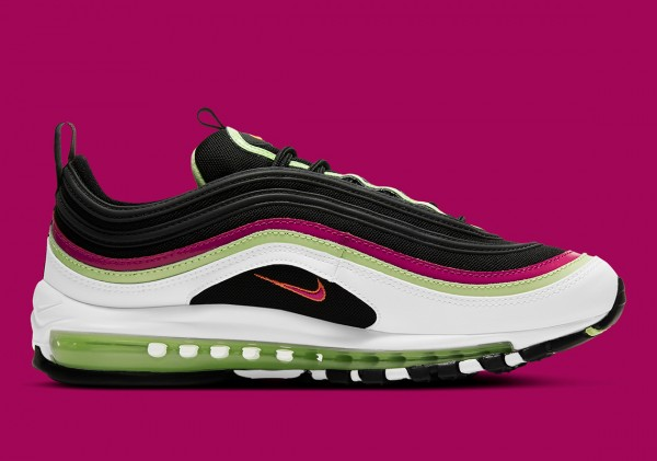 """Nike Air Max 97 """"World Tour"""" Nere/Bianche-Rosse DD9534-100"""