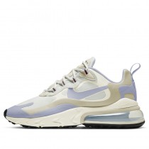 Nike Donne Air Max 270 React Bianche/Ghost/Fossil/Nere/Barely Rose CT1287-100