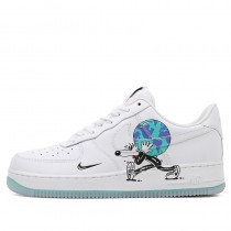 Nike Air Force 1 Flyleather QS Bianche/Nere/Hyper Crimson CI5545-100