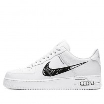 Nike Air Force 1 Sketch Bianche/Nere CW7581-101