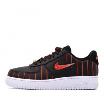 Nike Donne Air Force 1 Jewel QS Nere/Rosse/Nere/Bianche CU6359-001