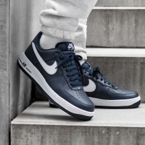 NIKE AIR FORCE 1 Uomo Midnight Navy/Bianche-Authentic 488298-436