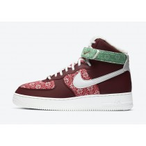 Nike Air Force 1 High Christmas Rosse/Bianche/Rosse DC1620-600
