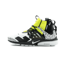 Nike Air Presto Mid Acronym Bianche/Nere-Gialle AH7832-100