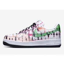 Nike Donne Air Force 1 'Nere Tie-Dye' Bianche/Verdi-Washed Coral-Nere CW1267-101
