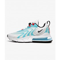 Nike Air Max 270 React ENG Bianche/Nere-Bleached Aqua-Rosse CT1281-100