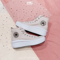 Converse Donne Chuck Taylor All Star High Move Rosse/Nere/Bianche 569545C