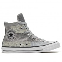 Converse Donne Chuck Taylor All Star High Ash Stone/Nere/Bianche 569426C