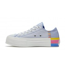 Converse Donne Chuck Taylor All Star Lift Low 'Ranbow' Blu/Bianche 564993C