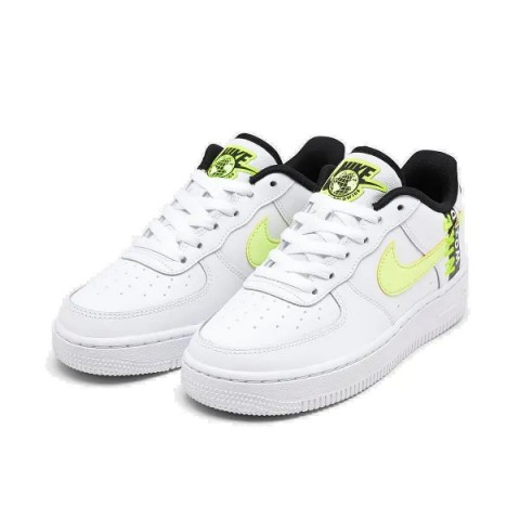 Nike Air Force 1 Low GS Bianche/Volt/Nere/Barely Volt CN8536-100