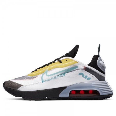 Nike Air Max 2090 Bianche/Bleached Aqua/Nere/Gialle CT1091-100