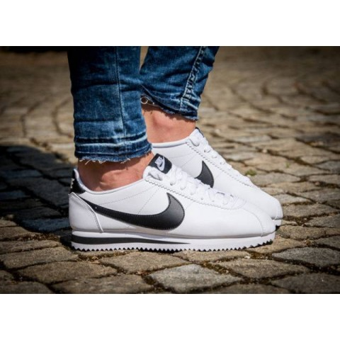 Donne Nike Classic Cortez Leather Bianche/Bianche/Nere 807471-101