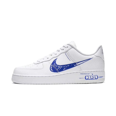 Nike Air Force 1 Low Sketch Bianche/Game Royal CW7581-100