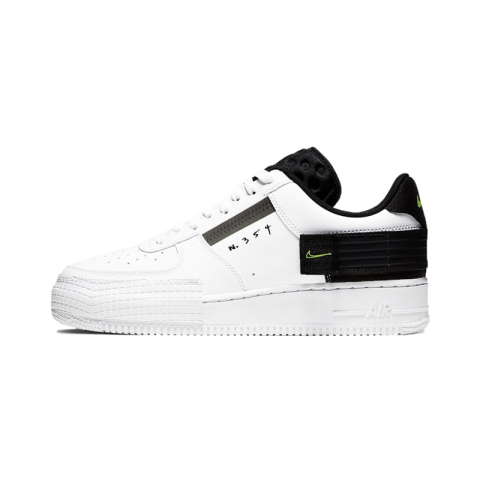 Nike Air Force 1 Low Drop Type Bianche/Volt-Nere-Bianche AT7859-101