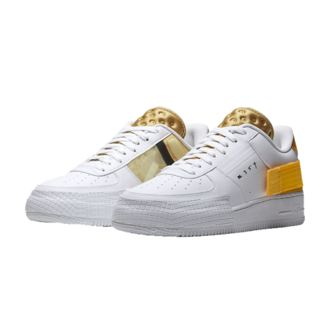 Nike Air Force 1 Low Drop Type Bianche/Oro/Oro AT7859-100