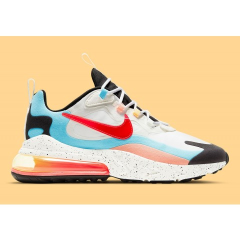 """Nike Air Max 270 """"The Future is in the Air"""" Bianche/Infrared-Bianche DD8498-161"""