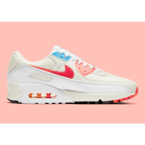 """Nike Air Max 90 """"The Future Is In The Air"""" Bianche/Infrared/Blu DD8496-161"""