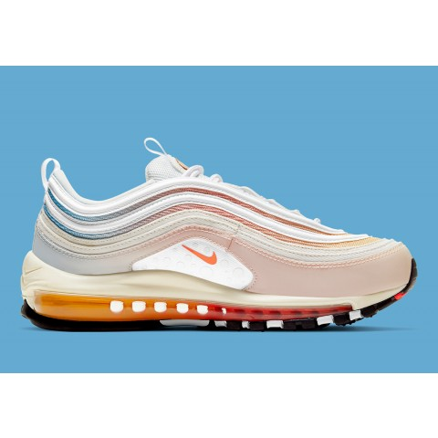 """Nike Air Max 97 """"The Future is in the Air"""" Sail/Bianche-Infrared DD8500-161"""