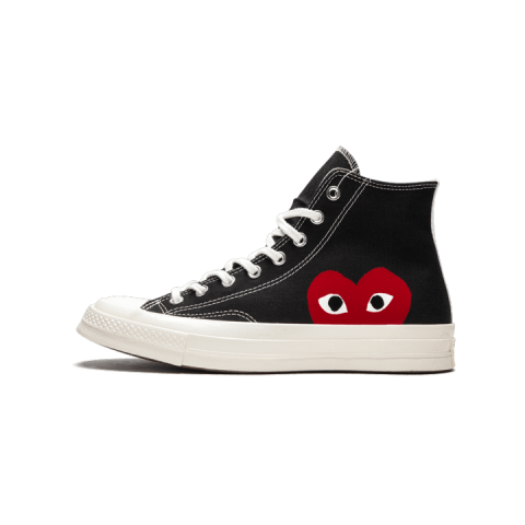 Converse Chuck Taylor All-Star 70s Hi Comme des Garcons PLAY Nere/Bianche-Rosse 150204C